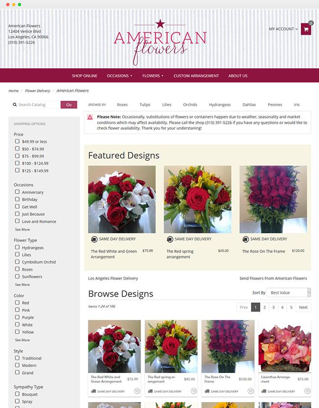 Portfolio American Flowers