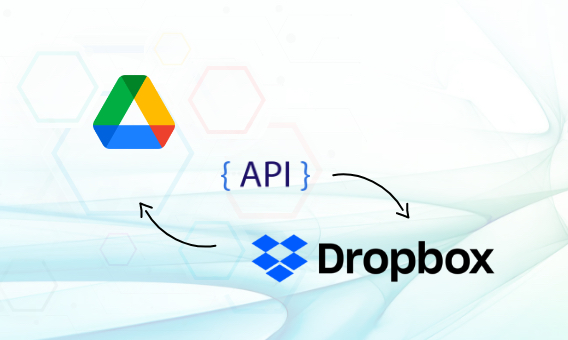 Google Drive and Dropbox using API